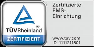 EMS-Studios TÜV-Zertifikat